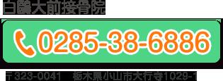 白?大前接骨院 0285386886
